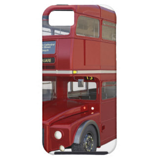 Double Decker Red Bus in Front Profile iPhone 5 Cover