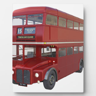 Double Decker Red Bus in Front Profile Plaque