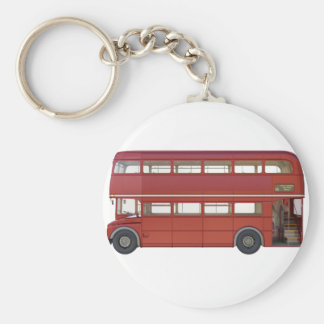 Double Decker Red Bus Key Ring