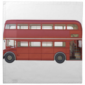 Double Decker Red Bus Napkin