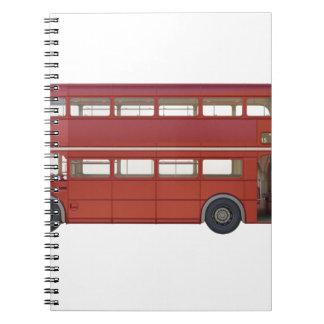 Double Decker Red Bus Notebook