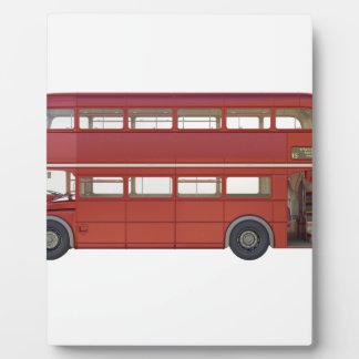 Double Decker Red Bus Plaque