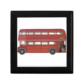 Double Decker Red Bus Small Square Gift Box