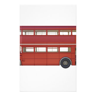 Double Decker Red Bus Stationery