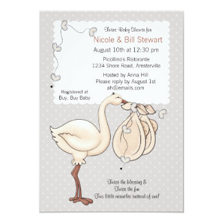 Double Delivery - Baby Shower  Invitation
