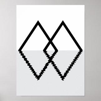Double Diamond Minimal Print