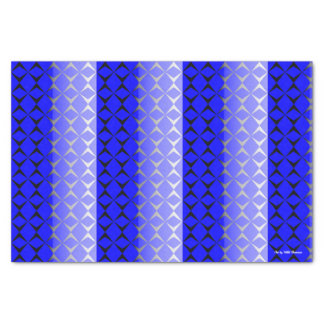 Double Diamond Tissue Paper (Blue & Black)