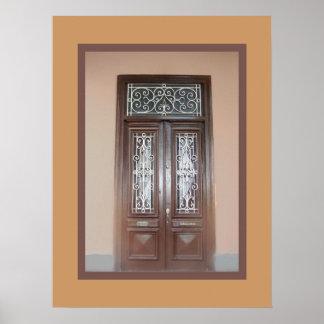 Double Doors in Barranco Poster