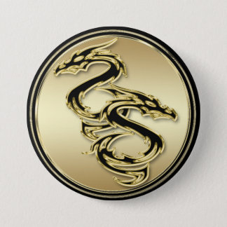Double Dragon Round Button