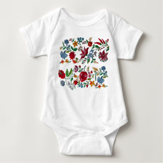 Double Embroidery Folk Art Embroidery Baby Bodysuit