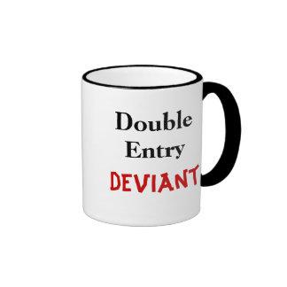 Double Entry Deviant Ringer Mug