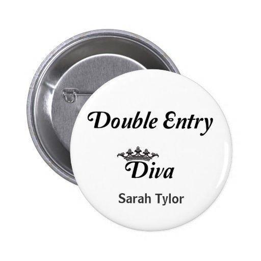 Double Entry Diva Button
