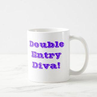 Double Entry Diva! Basic White Mug
