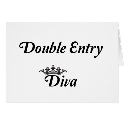 Double Entry Diva Greeting Cards