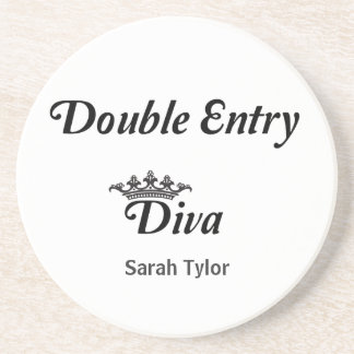 Double Entry Diva Drink Coasters