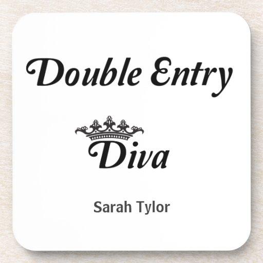 Double Entry Diva Beverage Coaster