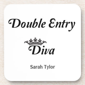 Double Entry Diva Drink Coaster