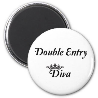Double Entry Diva Magnet