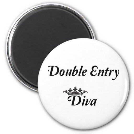 Double Entry Diva Fridge Magnet
