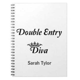 Double Entry Diva Spiral Notebook