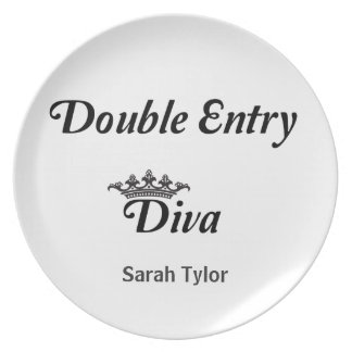Double Entry Diva Party Plate