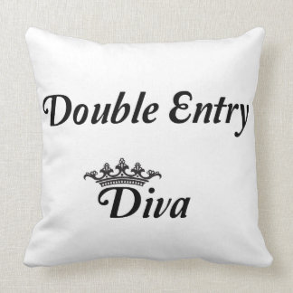 Double Entry Diva Throw Pillow