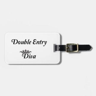Double Entry Diva Travel Bag Tags