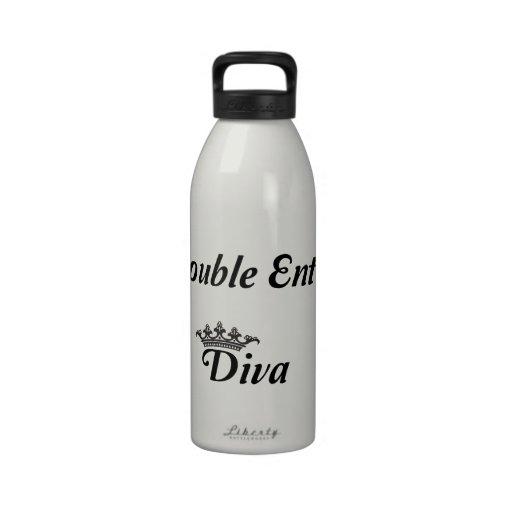 Double Entry Diva Water Bottle