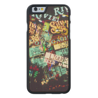 Double exposure, casino signs, Las Vegas, Carved® Maple iPhone 6 Slim Case