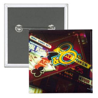 Double exposure, interior Casino, Las Vegas, 15 Cm Square Badge