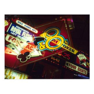 Double exposure, interior Casino, Las Vegas, Postcard