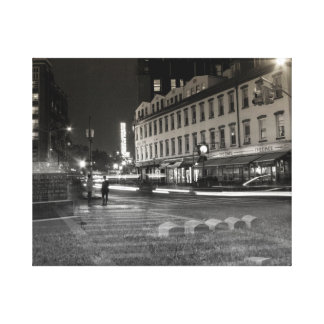 double exposure NYC meatpacking and greenwood Canvas Print