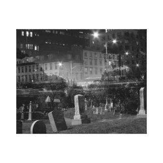 double exposure NYC meatpacking and greenwood Stretched Canvas Print