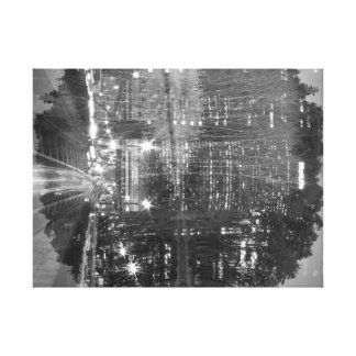 double exposure NYC metlife building and trees Gallery Wrapped Canvas