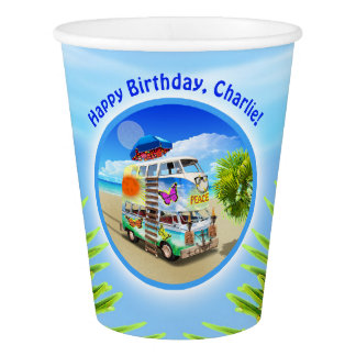 Double Groovy Birthday Party Cups