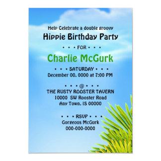 Double Groovy Birthday Party Invitation