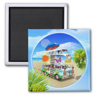 Double Groovy Refrigerator Magnet