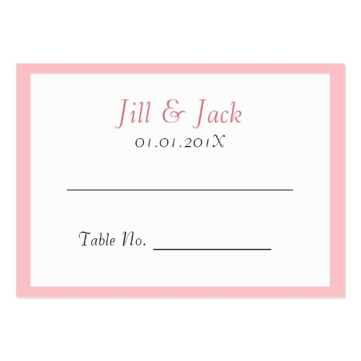 Double Happiness • Bold • Pink • Place Cards Business Card