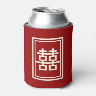 Double Happiness Chinese Wedding Bachelor Party Can Cooler