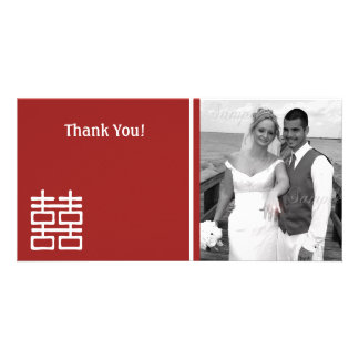 Double Happiness Chinese Wedding Photo Cards