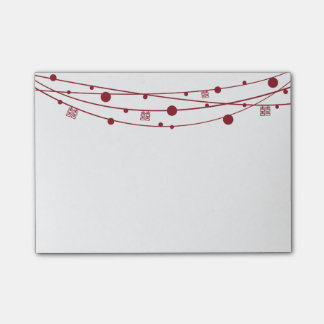 Double Happiness Lanterns Customizable Notes