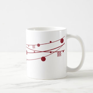 Double Happiness Lanterns Oriental Wedding Mug