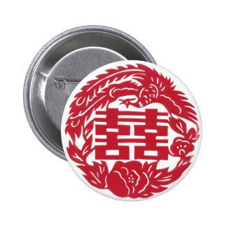 Double happiness Phoenix 6 Cm Round Badge