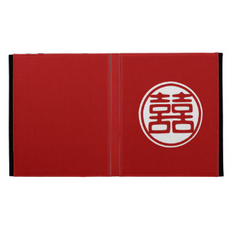 Double Happiness • Red • Round iPad Cases