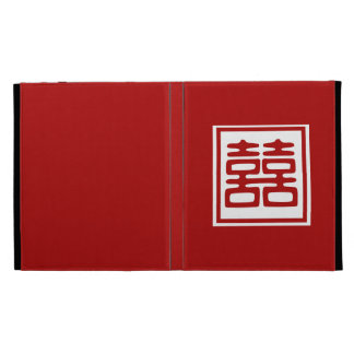 Double Happiness • Red • Square iPad Folio Cover