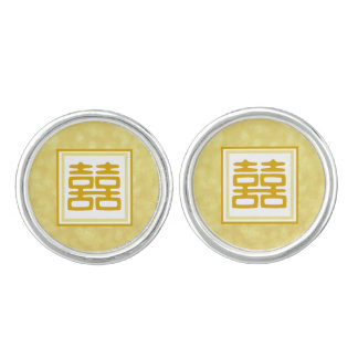 Double Happiness • Square Cuff Links