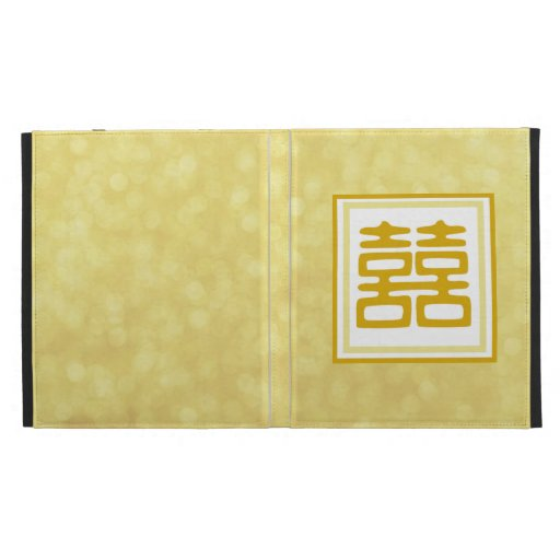 Double Happiness • Square • Gold iPad Folio Covers