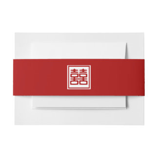 Double Happiness • Square Invitation Belly Band
