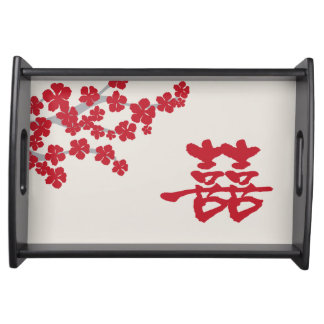 Double Happiness Wedding Serving Tray