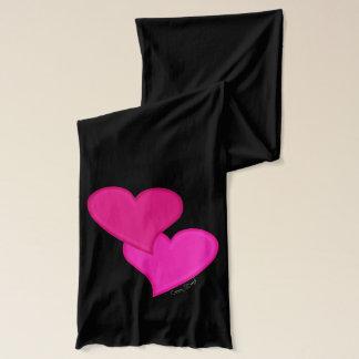 Double Heart - Jersey Scarf